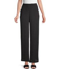 beach elastic-waist pants