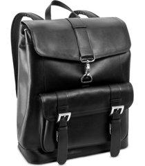 mcklein hagen leather laptop backpack