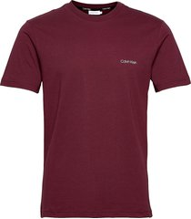 cotton chest logo t- t-shirts short-sleeved röd calvin klein