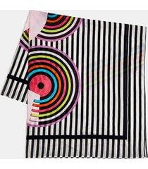 bufanda a rayas 100% algodón rosado esprit