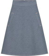 stretchy hickory stelly knälång kjol blå mads nørgaard