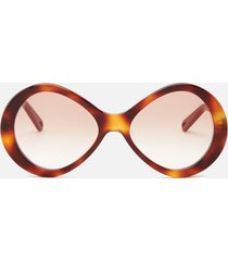 chloé women's oversized acetate sunglasses - havana/gradient brown
