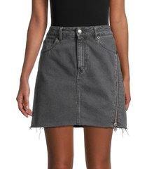 iro women's emiel mini denim skirt - black - size 34 (2)