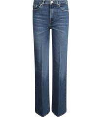 7 for all mankind wide leg fit jeans