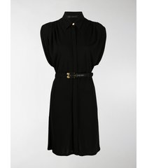 versace belted high-neck mini dress