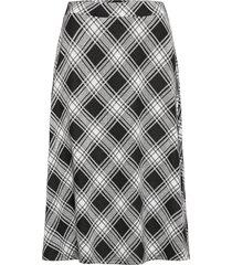 samira knälång kjol svart jumperfabriken