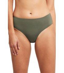 women's sea level bikini bottoms, size 14 us - green
