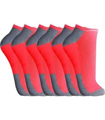 kit de meias part.b cano curto 3 pares neon