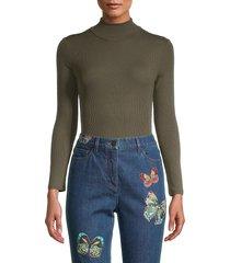 n:philanthropy women's brooke mockneck bodysuit - olive - size s
