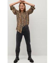 blouse met slangenprint
