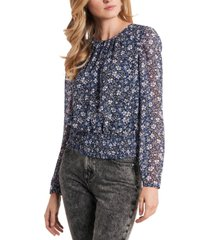 1.state floral-print smocked-waist top