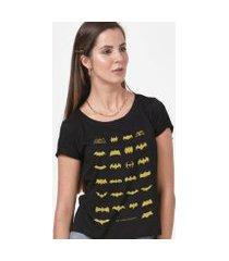 camiseta batman 80 anos logos collection feminina