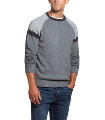 weatherproof vintage men's colorblock crew neck sweater