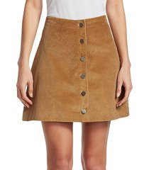 pruitt mini corduroy skirt