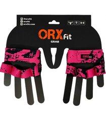 guantes pesas grab pink pitón orxfit