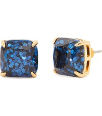 kate spade new york glitter crystal square stud earrings