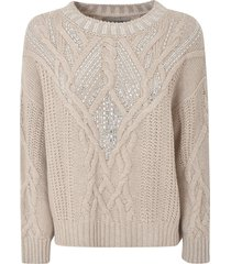 ermanno scervino bead embellished knit sweater