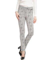 pantalón bunnys blanco/negro - calce ajustado
