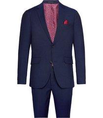 broken pin stripe suit pak blauw lindbergh