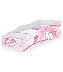 cama solteiro play unicórnio rosa casah