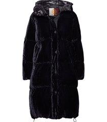 hcw crest long down, gevoerde lange jas zwart hilfiger collection