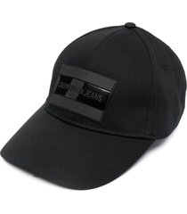 calvin klein tarp cotton baseball cap - black