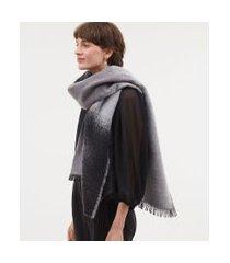 cachecol poliéster tie dye | accessories | cinza | u