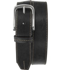 men's trask leather belt, size 42 - black