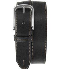 men's trask leather belt, size 42 - black