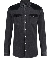 purewhite blouse denim 19030203 black