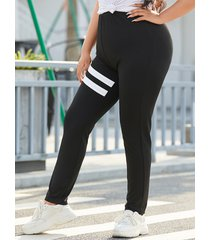yoins basics plus talla leggings de rayas negras