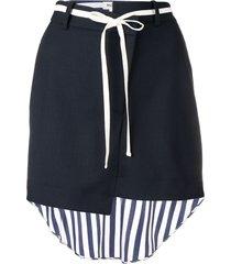 monse striped shirt back skirt - blue