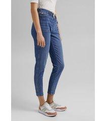 jeans medium rise lino denim esprit