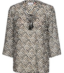 blouse 3/4-sleeve blus långärmad svart gerry weber