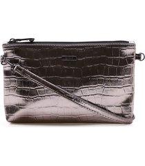 bolsa transversal feminina corello croco corello bolsa transversal prata velho