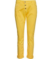 c cotton byxa med raka ben gul please jeans