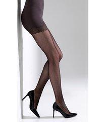natori bristles shine net tights, women's, black, size l natori