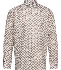 contemporary fit offwhite/brown signature twill shirt overhemd business bruin eton