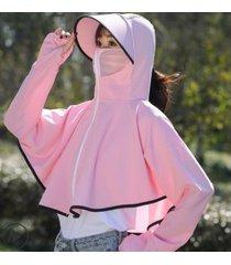 sombrero de sol impermeable y transpirable para mujer, rosa