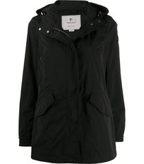 woolrich summer parka coat - black
