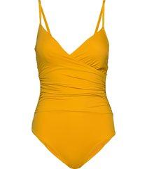 swim suit margot swimsuit baddräkt badkläder gul lindex