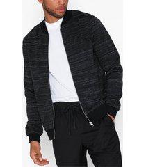 premium by jack & jones jprangus bla sweat zip cardigan - p tröjor svart