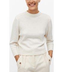 mango women's back vent sweater
