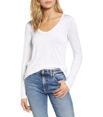 women's splendid scoop neck jersey tee, size xx-large - white