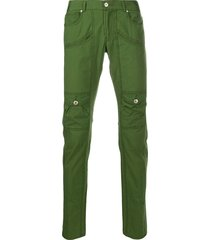jean paul gaultier pre-owned 1990s low rise slim-fit trousers - green