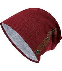 berretto caldo da donna in maglia da uomo con cappuccio a doppio petto