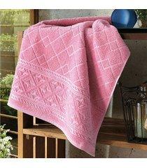 toalha de banho dohler jacquard confort, liso, rosa - fj-5281