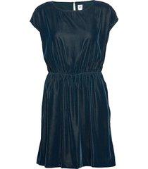 velvet skater dress kort klänning blå gap