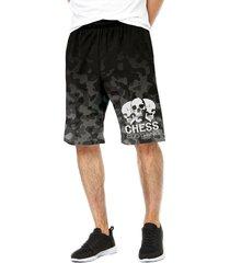 bermuda dri-fit chess clothing camo preta