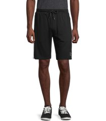 karl lagerfeld paris men's regular-fit logo track shorts - light grey - size xxl